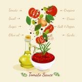 Salsa al pomodoro casalinga Spremuta di pomodori illustrazione vettoriale