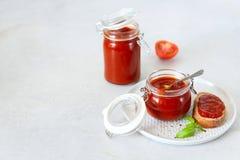 Salsa al pomodoro con i pomodori maturi Fotografie Stock Libere da Diritti