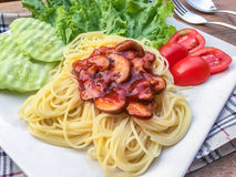 Salsa al pomodoro degli spaghetti Fotografia Stock