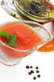 Salsa And Olive Oil Stock Photography