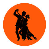 Salsa or argentine tango dancing couple man and woman in vector. International tango day Stock Photo