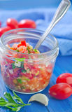 Salsa in bank Royalty Free Stock Images