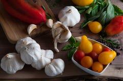 Salsa-Bestandteile stockfoto