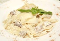 Salsa blanca de la almeja de las pastas Foto de archivo libre de regalías