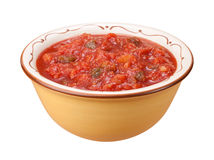 Salsa Bowl isolated Stock Image