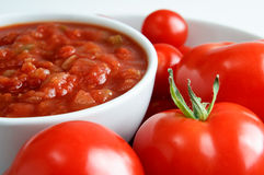 Salsa Bowl with Tomatoes Stock Images