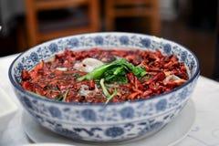 Salsa caliente del pote del chino tradicional Foto de archivo libre de regalías