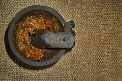 Salsa caliente mexicana tradicional fotos de archivo