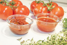 Salsa and chili sauce Royalty Free Stock Photography