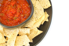 Salsa and Chips Royalty Free Stock Photography