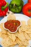 Salsa and chips Royalty Free Stock Image