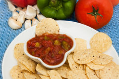 Salsa and chips Royalty Free Stock Photos