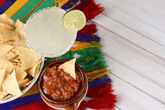 Salsa Chips Margarita Royalty Free Stock Images