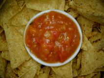 Salsa and chips royalty free stock images