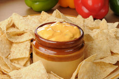 Salsa con queso Royalty Free Stock Images