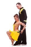 Salsa couple in nice dancing pose Stock Photography