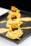 Salsa crema degli spaghetti Fotografie Stock