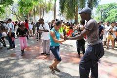 Salsa cubana calda nel centro di Avana Fotografia Stock Libera da Diritti