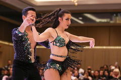 Salsa Dance Championship Stock Images