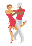 The salsa dance. Lady and gentleman dance salsa Stock Photo