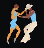 The salsa dance. Lady and gentleman dance Latin America dance salsa Stock Photo