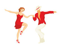 The salsa dance. Lady and gentleman dance Latin America dance salsa Royalty Free Stock Photo