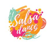 Salsa party vector logotype vector illustration