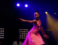 Salsa dancer. Performing at the Uitmarkt  in Amsterdam Royalty Free Stock Photos