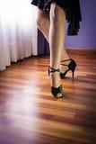 Salsa dancer dancing alone stock images