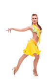 Salsa dancer with hand stretched Stock Image