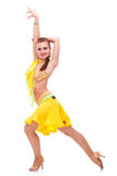 Salsa dancer in a nice dance pose Royalty Free Stock Photos