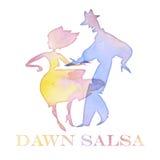 Salsa dancer watercolor i Stock Photos