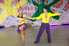 Salsa dancers. Compete on World Dance Olympiad Stock Images