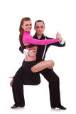 Salsa dancers Stock Images