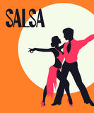 Salsa dancers card Stock Images