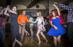 Salsa dancers royalty free stock photos