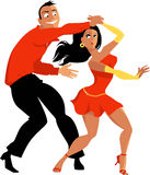 Salsa dancing couple Royalty Free Stock Photos