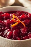 Salsa de arándano roja orgánica hecha en casa Fotos de archivo libres de regalías