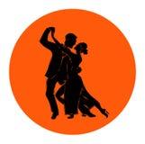 Salsa of de Argentijnse man en de vrouw van het tango dansende paar in vector Internationale tangodag stock illustratie