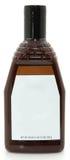 Salsa de barbacoa en blanco del Bbq de la botella de la escritura de la etiqueta 28oz Imagen de archivo libre de regalías