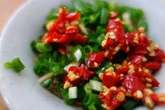 Salsa de chile china Imagen de archivo