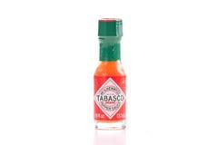 Salsa de chile de la marca de fábrica de Tabasco Fotografía de archivo libre de regalías