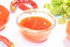 Salsa de chile dulce Foto de archivo libre de regalías