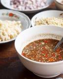 Salsa de chiles tailandesa Fotografía de archivo