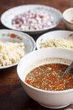 Salsa de chiles tailandesa Imagenes de archivo
