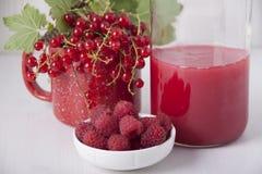 Salsa de la baya hecha de las pasas rojas y de las frambuesas Foto de archivo libre de regalías