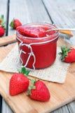 Salsa de la fresa Foto de archivo libre de regalías
