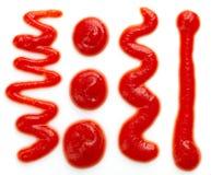 Salsa de la salsa de tomate o de tomate imagenes de archivo