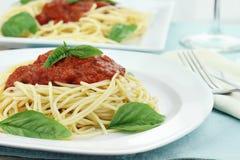 Salsa de las pastas y de espagueti Fotos de archivo libres de regalías