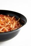 Salsa de las pastas y de tomate Fotos de archivo libres de regalías